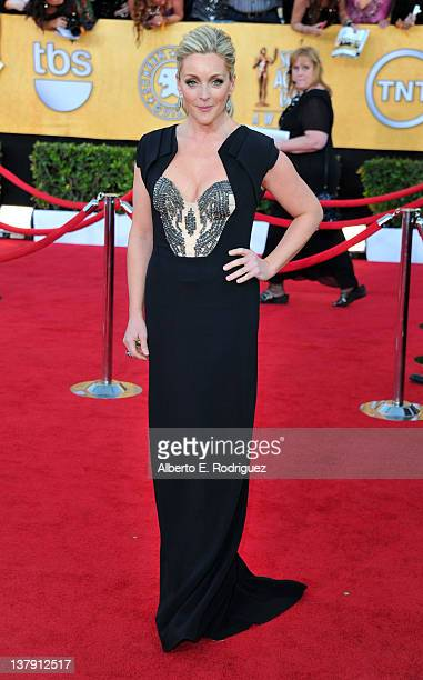 Actress Jane Krakowski arrives at the 18th Annual Screen Actors Guild Awards at The Shrine Auditorium on January 29 2012 in Los Angeles California