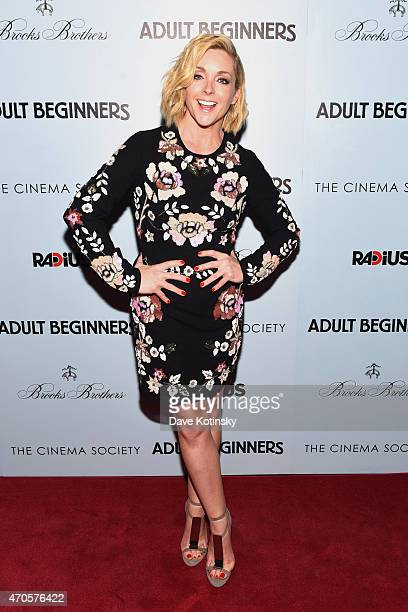 Actress Jane Krakowski attends the New York premiere of Adult Beginners hosted by RADiUS with The Cinema Society Brooks Brothers at AMC Lincoln...