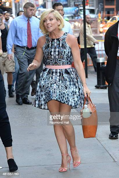 "Actress Jane Krakowski is seen on the set of ""Good Morning America"" on July 22, 2015 in New York City."