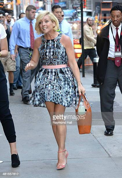 Actress Jane Krakowski is seen on the set of Good Morning America on July 22 2015 in New York City