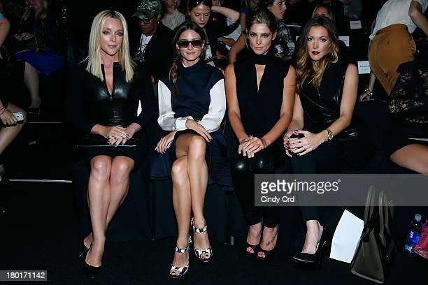 Actress Jane Krakowski Olivia Palermo actors Ashley Greene andKatie Cassidy attend the Kaufmanfranco fashion show during MercedesBenz Fashion Week...