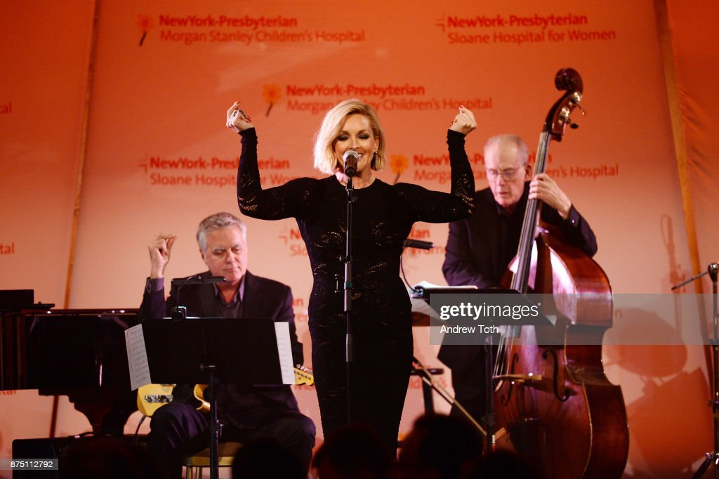 Actress Jane Krakowski performs onstage during NewYork-Presbyterian Hospital's Amazing Kids, Amazing Care dinner at Cipriani 25 Broadway on November 16, 2017 in New York City.