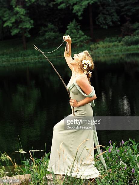 Actress Jane Krakowski posing in Central Park for People in June 1998 in New York City, New York.