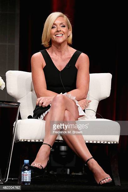 "Actress Jane Krakowski speaks onstage during the ""Unbreakable Kimmy Schmidt"" panel discussion at the Netflix portion of the 2015 Summer TCA Tour at..."