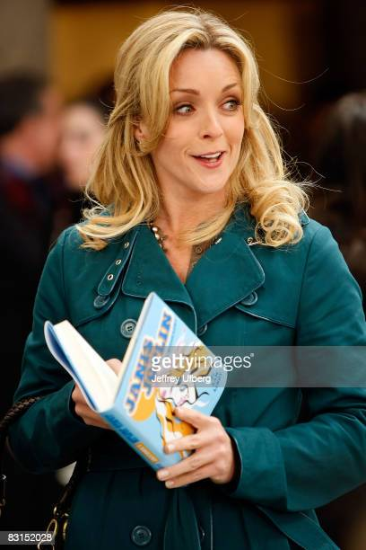 Actress Jane Krakowski stands on location during filming for '30 Rock' at Rockefeller Center on October 6 2008 in New York City