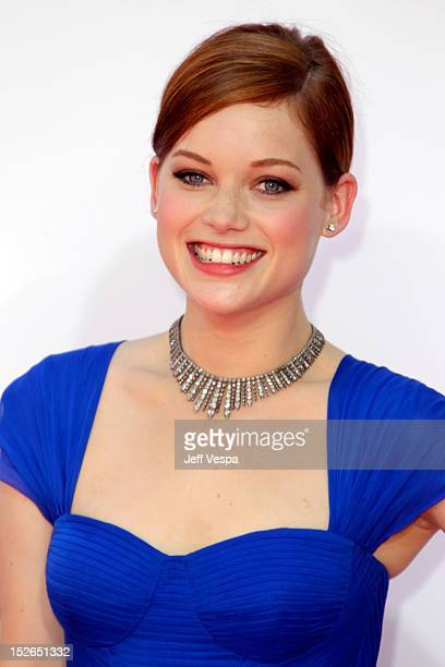 Actress Jane Levy arrives at the 64th Primetime Emmy Awards at Nokia Theatre LA Live on September 23 2012 in Los Angeles California