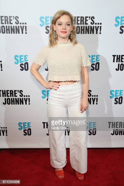 Actress Jane Levy attends Seeso's 'There'sJohnny' Tribeca Film Festival Premiere AfterParty at The Friars Club on April 27 2017 in New York City