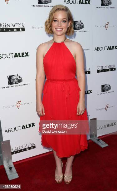 Actress Jane Levy attends the premiere of 'About Alex' at ArcLight Hollywood on August 6 2014 in Hollywood California