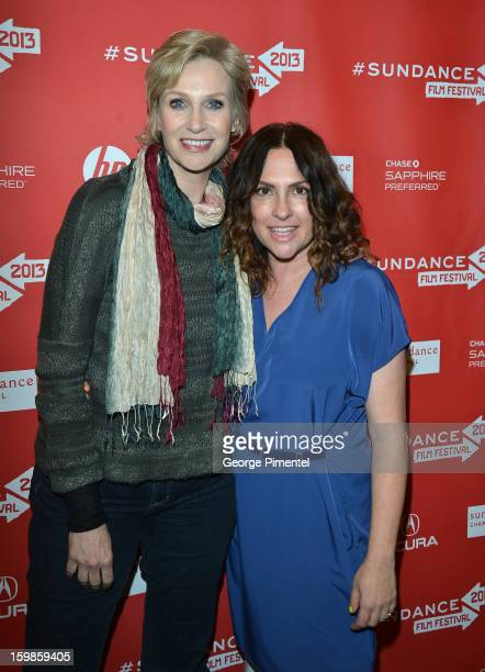 Actress Jane Lynch and director Jill Soloway attend the 'Afternoon Delight' premiere at Eccles Center Theatre during the 2013 Sundance Film Festival...