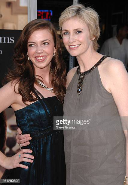 Actress Jane Lynch and niece Ellen Doyle arrive at The Julie Julia Premiere at Mann Village Theatre on July 27 2009 in Westwood Los Angeles California