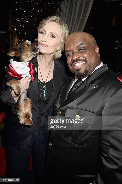 Actress Jane Lynch and singer/songwriter Cee Lo Green attend the Primary Wave 9th Annual PreGrammy Party at RivaBella on February 7 2015 in West...