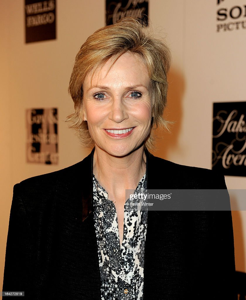 Actress Jane Lynch arrives at 'An Evening' benifiting The L.A. Gay & Lesbian Center at the Beverly Wilshire Hotel on March 21, 2013 in Beverly Hills, California.
