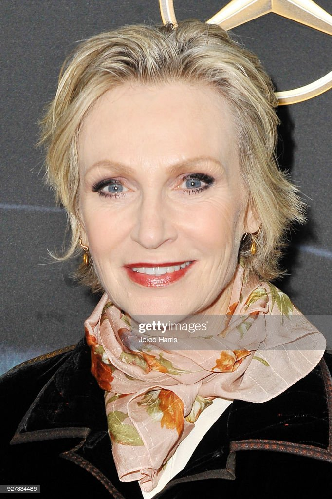Actress Jane Lynch arrives at Mercedez-Benz USA's Official Awards Viewing Party at Four Seasons Hotel on March 4, 2018 in Beverly Hills, California.