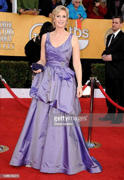 Actress Jane Lynch arrives at the 17th Annual Screen Actors Guild Awards held at The Shrine Auditorium on January 30 2011 in Los Angeles California
