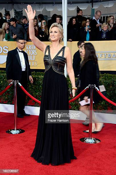 Actress Jane Lynch arrives at the 19th Annual Screen Actors Guild Awards held at The Shrine Auditorium on January 27 2013 in Los Angeles California