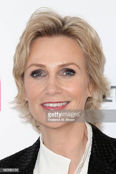 Actress Jane Lynch arrives at the 21st Annual Elton John AIDS Foundation's Oscar Viewing Party on February 24 2013 in Los Angeles California