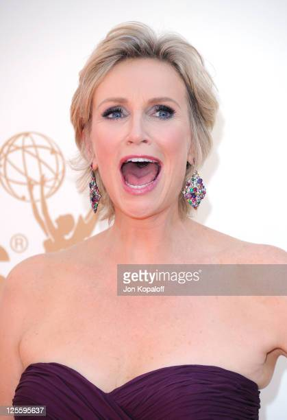 Actress Jane Lynch arrives at the 63rd Primetime Emmy Awards held at Nokia Theatre LA Live on September 18 2011 in Los Angeles United States