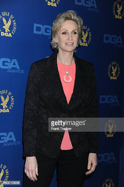 Actress Jane Lynch arrives at the 65th Annual Directors Guild Awards held at the Ray Dolby Ballroom at Hollywood Highland