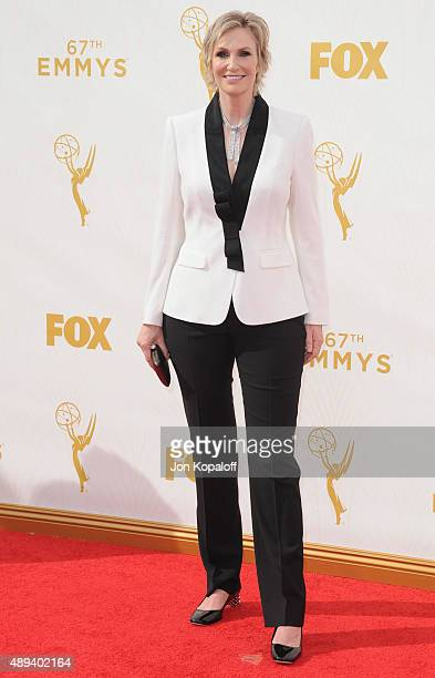Actress Jane Lynch arrives at the 67th Annual Primetime Emmy Awards at Microsoft Theater on September 20 2015 in Los Angeles California
