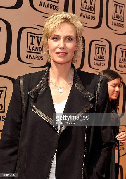 Actress Jane Lynch arrives at the 8th Annual TV Land Awards at Sony Studios on April 17 2010 in Los Angeles California