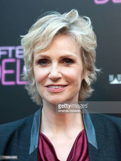 Actress Jane Lynch arrives at the Los Angeles premiere of 'Afternoon Delight' at ArcLight Hollywood on August 19 2013 in Hollywood California