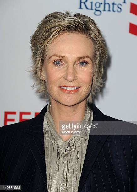 Actress Jane Lynch arrives at the premiere of '8' presented by The American Foundation For Equal Rights Broadway Impact at The Wilshire Ebell Theatre...