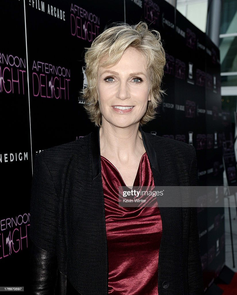 Actress Jane Lynch arrives at the premiere of The Film Arcade and Cinedigm's 'Afternoon Delight' at the Arclight Theatre on August 19, 2013 in Los Angeles, California.