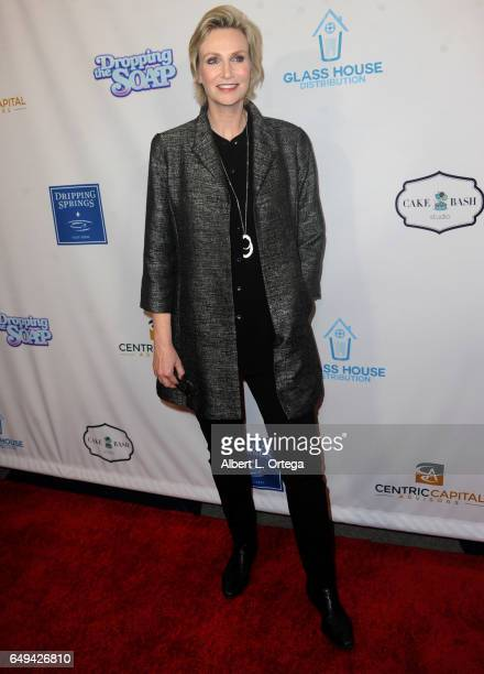 Actress Jane Lynch arrives for the Premiere Of Glass House Distributions' 'Dropping The Soap' held at Writers Guild Theater on March 7 2017 in...