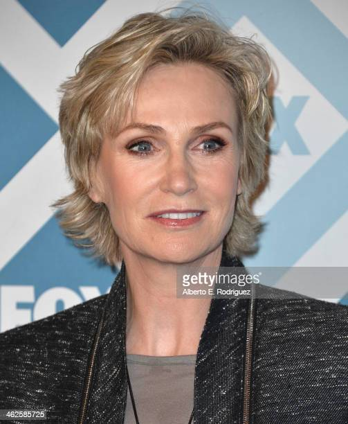 Actress Jane Lynch arrives to the 2014 Fox AllStar Party at the Langham Hotel on January 13 2014 in Pasadena California