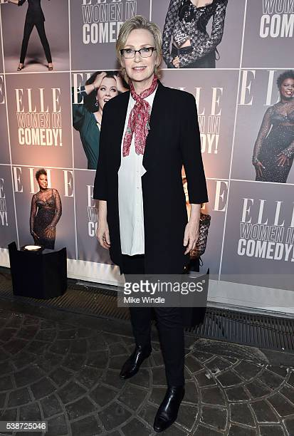 Actress Jane Lynch attends ELLE Women In Comedy event hosted by ELLE EditorinChief Robbie Myers and Leslie Jones Melissa McCarthy Kate McKinnon and...