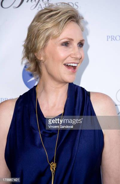 Actress Jane Lynch attends Project Angel Food's annual summer soiree Angel Awards 2013 honoring Jane Lynch at Project Angel Food on August 10 2013 in...