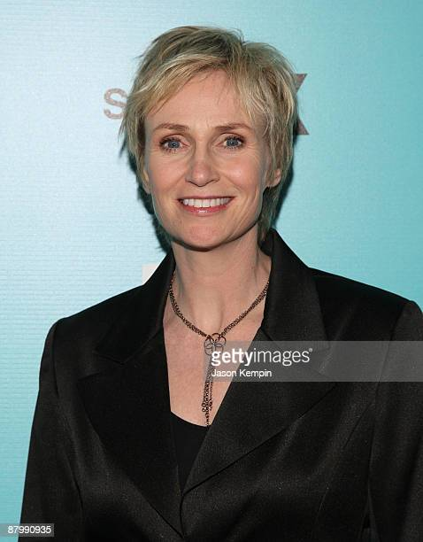 Actress Jane Lynch attends the 2009 FOX UpFront after party at the Wollman Rink in Central Park on May 18 2009 in New York City