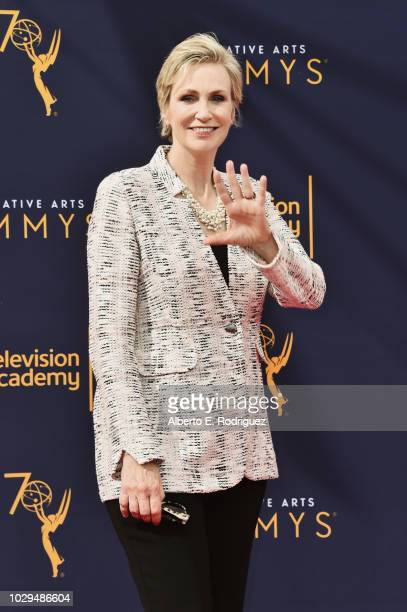 Actress Jane Lynch attends the 2018 Creative Arts Emmy Awards at Microsoft Theater on September 8 2018 in Los Angeles California
