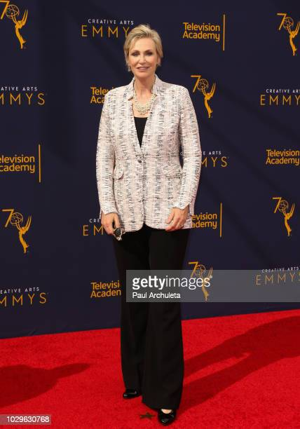 Actress Jane Lynch attends the 2018 Creative Arts Emmy Awards Day 1 at Microsoft Theater on September 8 2018 in Los Angeles California