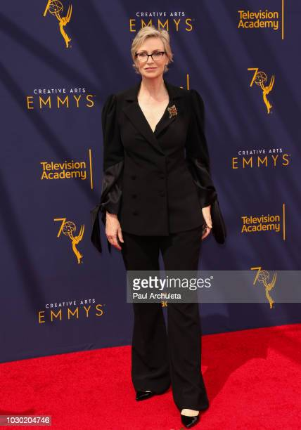 Actress Jane Lynch attends the 2018 Creative Arts Emmy Awards Day 2 at the Microsoft Theater on September 9 2018 in Los Angeles California