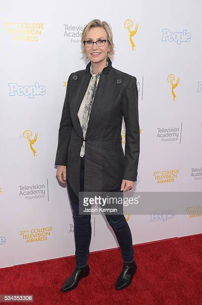 Actress Jane Lynch attends the 37th College Television Awards at Skirball Cultural Center on May 25 2016 in Los Angeles California