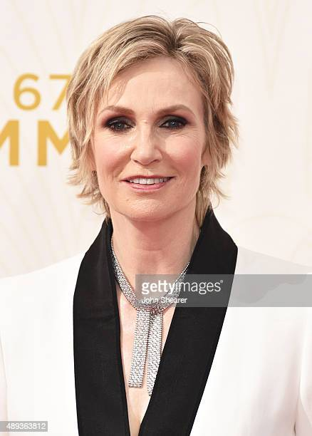 Actress Jane Lynch attends the 67th Annual Primetime Emmy Awards at Microsoft Theater on September 20 2015 in Los Angeles California