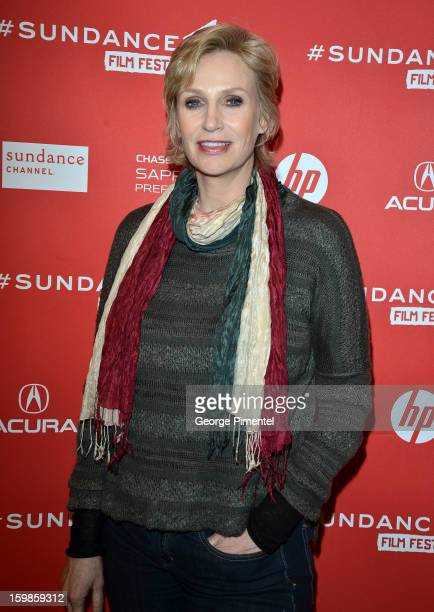 Actress Jane Lynch attends the 'Afternoon Delight' premiere at Eccles Center Theatre during the 2013 Sundance Film Festival on January 21 2013 in...