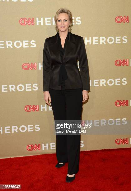 Actress Jane Lynch attends the CNN Heroes: An All Star Tribute at The Shrine Auditorium on December 2, 2012 in Los Angeles, California....