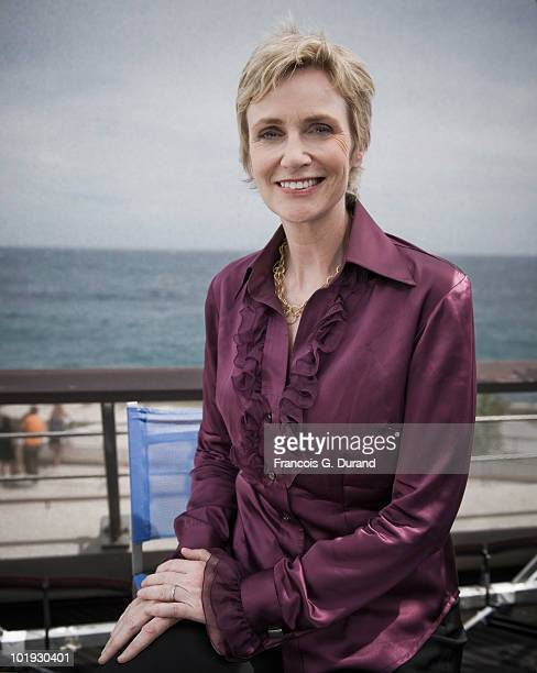 ACCESS*** Actress Jane lynch attends the 'Glee' portrait session at Grimaldi Forum during the annual Monte Carlo Television Festival on June 9 2010...