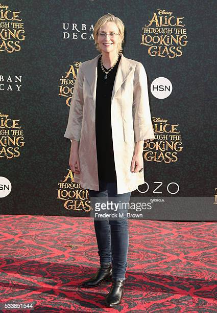 Actress Jane Lynch attends the premiere of Disney's 'Alice Through The Looking Glass at the El Capitan Theatre on May 23 2016 in Hollywood California
