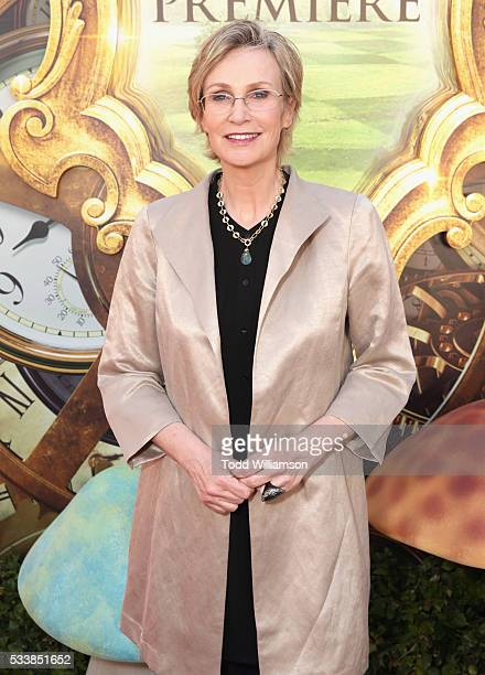 Actress Jane Lynch attends the premiere of Disney's 'Alice Through The Looking Glass' at the El Capitan Theatre on May 23 2016 in Hollywood California
