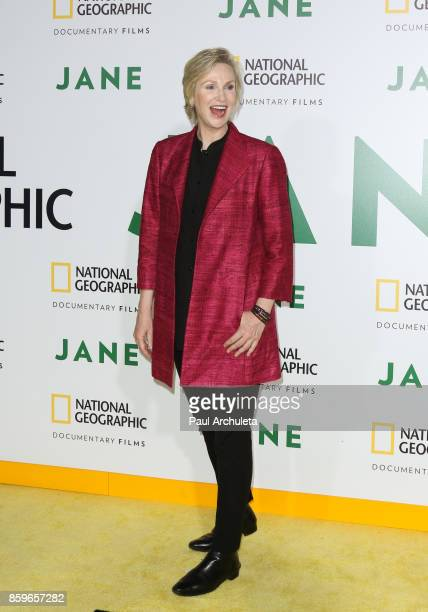Actress Jane Lynch attends the premiere of National Geographic documentary films' 'Jane' at the Hollywood Bowl on October 9 2017 in Hollywood...