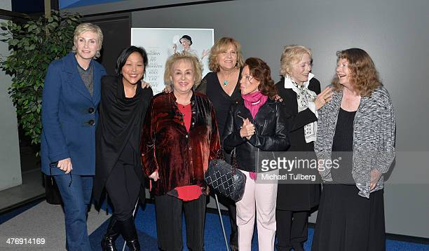 Actress Jane Lynch director Chiemi Karasawa actresses Doris Roberts and Brenda Vaccaro socialite Nikki Haskell and actresses Holland Taylor and...