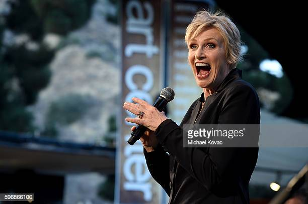 Actress Jane Lynch performs onstage at the Festival of Arts Celebrity Benefit Concert and Pageant on August 27 2016 in Laguna Beach California