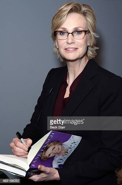 Actress Jane Lynch signs copies of her book 'Happy Accidents' at An evening with Norman Lear in conversation with Jane Lynch about his life career...