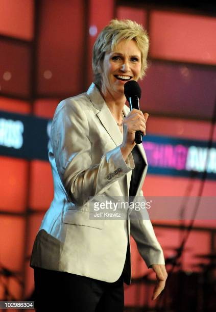Actress Jane Lynch speaks onstage at the 2010 VH1 Do Something! Awards held at the Hollywood Palladium on July 19, 2010 in Hollywood, California.