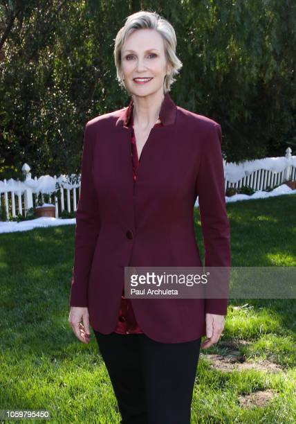 Actress Jane Lynch visits Hallmark's Home Family at Universal Studios Hollywood on November 9 2018 in Universal City California