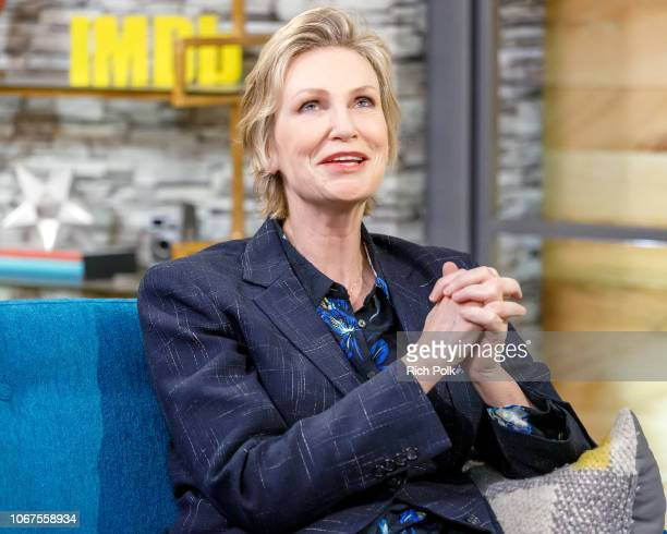 Actress Jane Lynch visits 'The IMDb Show' on November 5 2018 in Studio City California This episode of 'The IMDb Show' airs on November 21 2018