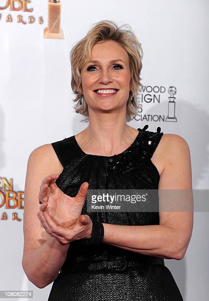 Actress Jane Lynch winner of Best Performance by an Actress in a Supporting Role in a Series MiniSeries or Motion Picture Made for Television for...